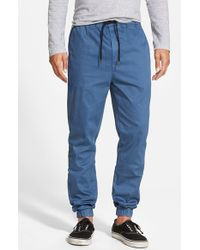Ezekiel - Blue 'bedford' Twill Jogger Pants for Men - Lyst