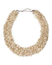 Nakamol - Metallic Woven Beaded Statement Necklace - Lyst
