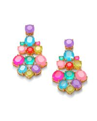 kate spade new york - Pink Multicolor Chandelier Earrings - Lyst