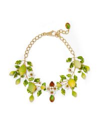 Dolce & Gabbana | Metallic Gold-plated, Swarovski Crystal And Enamel Necklace | Lyst