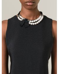 Lanvin | Black Choker Pearl Necklace | Lyst