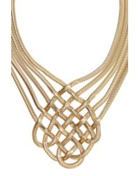 Coast - Metallic Lattice Necklace - Lyst