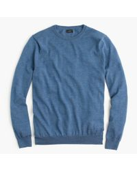J.Crew - Blue Merino Wool Crewneck Sweater for Men - Lyst