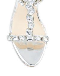 Nine West | Metallic Fresh Embellished Stiletto Sandals | Lyst