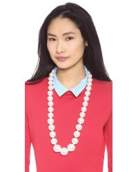 Kenneth Jay Lane | White Large Faux Pearl Necklace Pearl | Lyst