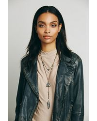 Free People - Gray Womens Double Layer Rosary - Lyst