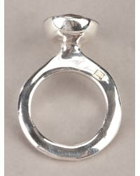 Rosa Maria - Metallic Silver Treated Ring - Lyst