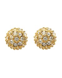 Carolee | Metallic Crystal Pave Stud Earrings | Lyst