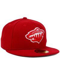 KTZ - Red Minnesota Wild C-dub 59fifty Cap for Men - Lyst