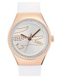Lacoste - White 'valencia' Medium Logo Dial Watch - Lyst