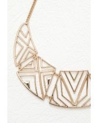 Forever 21 - Metallic Faux Pearl Statement Necklace - Lyst