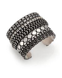 DANNIJO | Metallic Roxanna Crystal Mixed Cuff Bracelet | Lyst