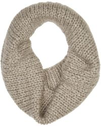 Stella McCartney - Gray Grey Marled Tube Scarf - Lyst