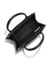 Tory Burch - Black Ella Canvas & Leather Tote - Lyst
