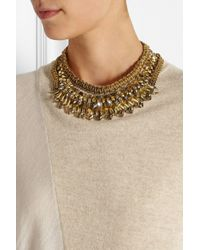 Erickson Beamon - Metallic Gold-Plated Swarovski Crystal Necklace - Lyst