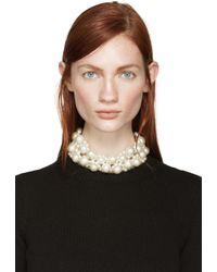 Simone Rocha | Natural Two-row Pearl Choker | Lyst