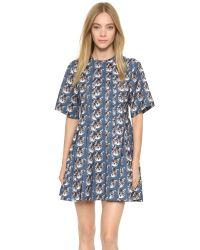 Paul & Joe - Blue Floral Maxi Dress - Lyst