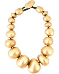 Monies | Yellow Metallic Ball Necklace | Lyst
