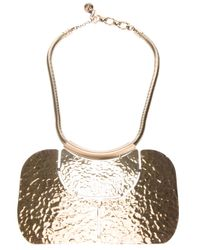 Lanvin - Metallic Breast Plate Pendant Necklace - Lyst