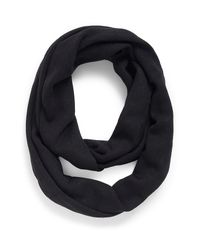 Calvin Klein - Black White Label Tonal Logo Infinity Scarf - Lyst