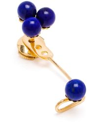 Yvonne Léon | Blue 18Kt Gold And Lapis 'Epingle' Earring | Lyst