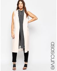 ASOS - Natural Curve Sleeveless Duster Jacket - Lyst