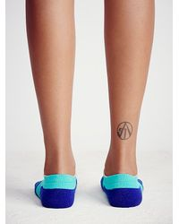 Free People | Blue Let's Move Running Sock | Lyst