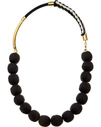 Marni | Black Fabric And Nautical Cord Necklace - For Women | Lyst