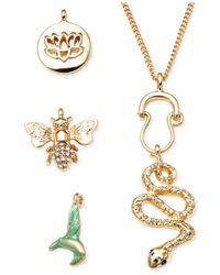 RACHEL Rachel Roy | Metallic Gold-Tone Interchangeable Critter Pendant Necklace Set | Lyst