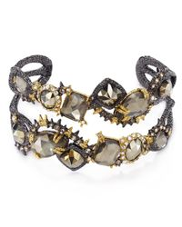 Alexis Bittar | Gray Elements Ruthenium Muse Dore Multi-Stone Cuff | Lyst