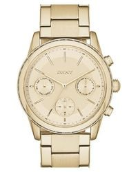 DKNY - Metallic 'rockaway' Multifunction Bracelet Watch - Lyst
