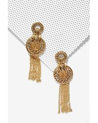 Nasty Gal - Metallic Olympic Glory Chain Earrings - Lyst
