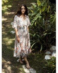 Free People - Natural Womens Wild Mountain Kimono Dress - Lyst