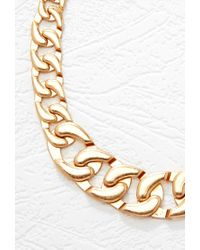 Forever 21 | Metallic Oversized Chain Link Necklace | Lyst