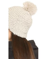Bickley + Mitchell - White Pom Pom Beanie - Lyst