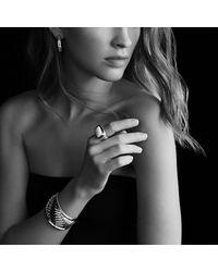David Yurman - Metallic Sculpted Cable Cuff Bracelet With 18k Gold, 41mm - Lyst
