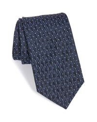 Saint Laurent | Blue Logo Jacquard Woven Silk Tie for Men | Lyst