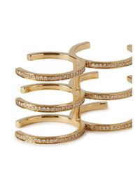 Bochic | Metallic Double Cage Diamond 18kt Gold Ring | Lyst