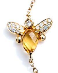 Kiki McDonough - Metallic Citrine Diamond Bee Bracelet - Lyst