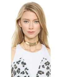 Eddie Borgo - Metallic Safety Chain Choker Necklace - Lyst