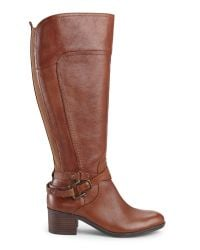 Marc Fisher - Brown Cognac Kacee Wide Calf Riding Boots - Lyst