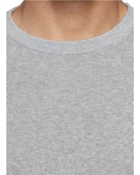Incotex - Gray Crew Neck Cotton Sweater for Men - Lyst