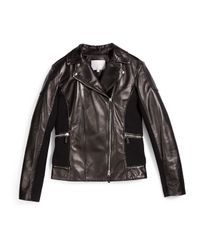 Gucci - Black Leather Moto Jacket - Lyst