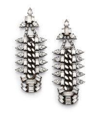 DANNIJO | Metallic Gavin Crystal Chain Drop Earrings | Lyst