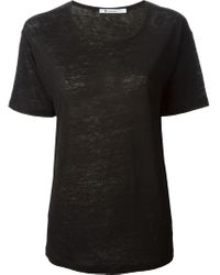 T By Alexander Wang - Black Round Neck T-shirt - Lyst