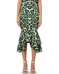 Givenchy | Multicolor Leopard-print Stretch-crepe Skirt | Lyst