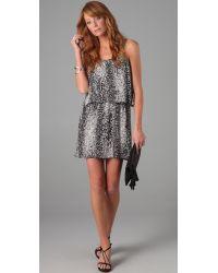 Parker - Black Pleated Cami Dress - Lyst