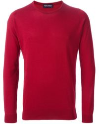John Smedley - Red Crew Neck Sweater for Men - Lyst