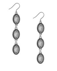 Lucky Brand | Metallic Modern Shine Triple Oval Quartz Earrings | Lyst