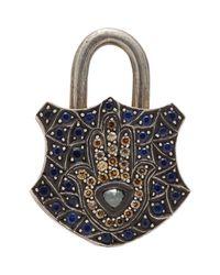 Sevan Biçakci | Blue Women's Gemstone Hamsa Padlock Charm | Lyst